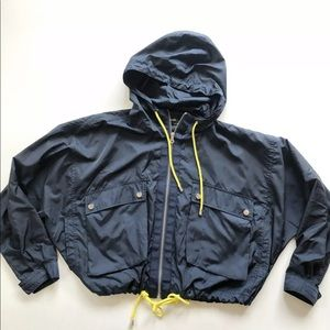 Zara Basic Windbreaker Full Zip Oversized Jacket